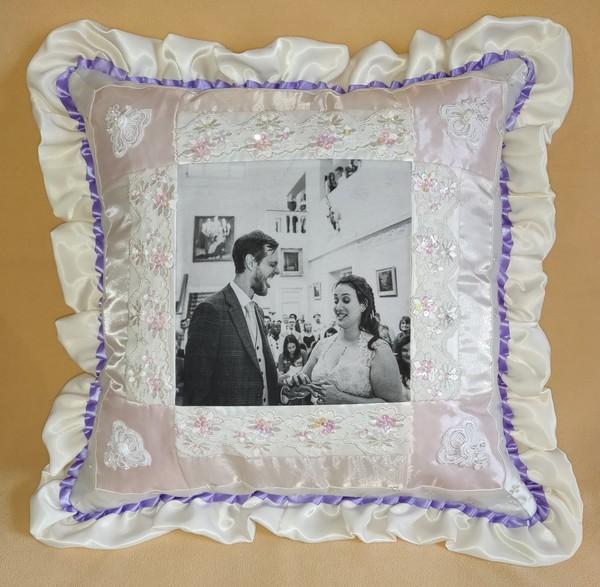 Michaela's wedding pillow